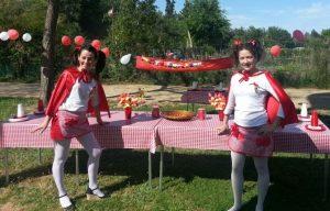 Fiesta temática caperucita roja merienda