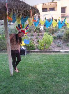 Fiesta temática indios y vaqueros animadora