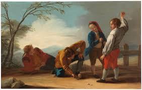 """""""Muchachos jugando a la peonza"""" Pintor José del Castillo."""